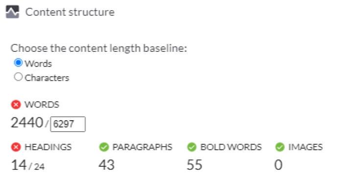 Content Structure - Surfer SEO